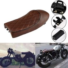 Motorcycle Vintage Cafe Racer Saddle Seat For KZ400 KZ550 K750 Z650 W650 CB100 CB125 CB175 CB200 CB350 CB360 CB400 CB450 CB500 CB550 CB650 CB750 CG125 GN250 CL100 CL125S CL175 CL200 CL350