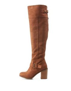 Chunky Heel Over Knee Boots
