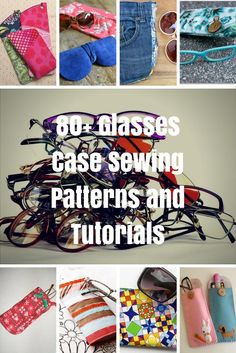 Glasses Case Sewing Patterns and Tutorials - Glasses case sewing patterns and eyeglass case tutorials require very little fabric and the end product makes a fantastic gift for yourself or someone else. Sewing Blogs, Sewing Hacks, Sewing Tutorials, Sewing Crafts, Sewing Projects, Sewing Ideas, Bags Sewing, Sewing Lessons, Sewing Tips