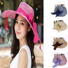 Floppy Wide Brimmed Summer Beach Cotton Hat Sun Hat Women's Fashion Hat Cap NEW