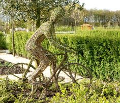 Willow sculpture cyclist