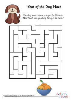 year of the dog maze 1 new year printables dog years beavers chinese