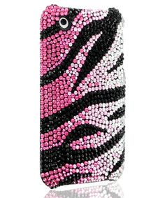 Protect the iPhone in glitzy style with this fabulous hard-shell case. The rhinestone decoration speaks to the owner's inner diva, while the formfitting construction keeps mobile devices slim with convenient access to all buttons and ports.