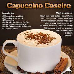 Bom dia para testar a receita e experimentar. Confort Food, Tasty, Yummy Food, Cafe Menu, Chocolate Coffee, Coffee Cafe, Coffee Recipes, Love Food, Food Porn