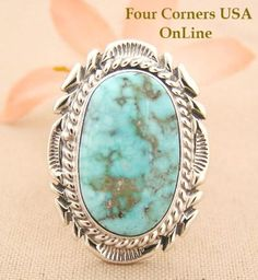 Four Corners USA Online - Size 8 3/4 Elongated Dry Creek Turquoise Stone Ring Thomas Francisco Native Indian Silver Jewelry NAR-1433, $192.00 (http://stores.fourcornersusaonline.com/size-8-3-4-elongated-dry-creek-turquoise-stone-ring-thomas-francisco-native-indian-silver-jewelry-nar-1433/)