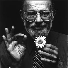 Allen Ginsberg, photographed by Nigel Parry.