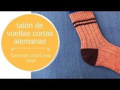 Talón de vueltas cortas alemanas - YouTube How To Purl Knit, Socks, Knitting, Youtube, Stockings, Yarns, Crochet Slippers, Stocking Pattern, Gloves
