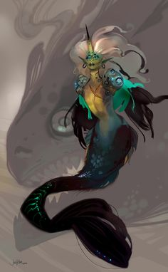art-shannonigans:  Mermaid by JenZee