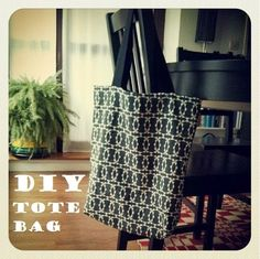 DIY: The reversible tote bag in fabric diy accessories with tutorial Tote bag Fabric DIY Reversible Tote Bag, Diy Tote Bag, Diy And Crafts Sewing, Sewing Projects, Diy For Kids, Diy Fashion, Bag Accessories, Fabric, Sunday
