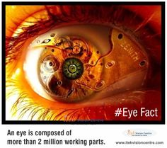 #EyeFact : An eye is composed of more than 2 million working parts #ItekVisionCentre #DidYouKnow