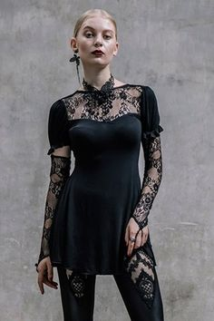 Willow Corseted Gothic Top by Devil Fashion