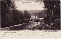 AK RAUSCHEN Ostpreussen 1901 Blick auf den Ort mit Pferdefuhrwerk