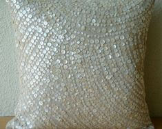 Luxury Mocha Cushion Covers 16x16 Cotton Linen by TheHomeCentric