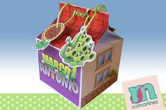 Cajoncito para guardar dulces inspirada en la casa de Plants Vs Zombies