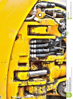 Hydraulic Pistons Detail Heavy Construction Truck - Download From Over 53 Million High Quality Stock Photos, Images, Vectors. Sign up for FREE today. Image: 28725831