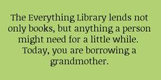 Not only books.