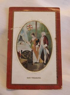 Our Treasure Colonial Style Vintage Postcard    by GreenGablesLane