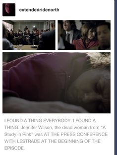 Just when I thought the Sherlock fandom was running out of details to notice. A Study In Pink, Sherlock Sherlock Holmes, Sherlock Fandom, Sherlock Humor, Jim Moriarty, Sherlock John, Martin Freeman, Benedict Cumberbatch, Fangirl, Detective