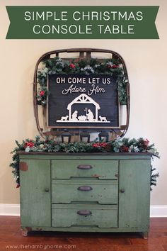 Simple Rustic Christmas Console Table Christmas Gift Guide, 1st Christmas, Diy Christmas Gifts, Rustic Christmas, Simple Christmas, Christmas Ideas, Christmas Tablescapes, Christmas Mantels, Christmas Decorations