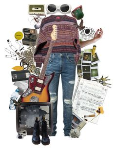 """Cobain"" by causingpanicatthetheater on Polyvore featuring art"