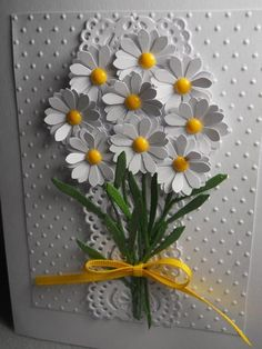 Daisies daisy card daisies Spring card spring flowers bouquet of daisies bouquet of posies dimensional blank inside any occasion Flower Cards, Paper Flowers, Drawing Flowers, Painting Flowers, Handmade Birthday Cards, Greeting Cards Handmade, Tarjetas Stampin Up, Embossed Cards, Cricut Cards
