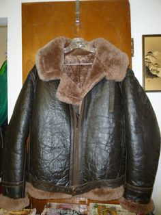 This jacket is for sale at etsy.com. Clicking the photo will bring up the listing. Mens Vintage Irvin Flying RAF Jacket 46 Leather by BathoryZ