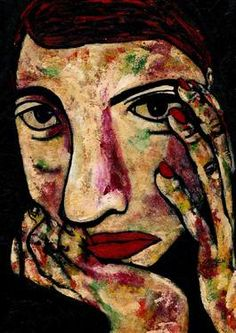 "Saatchi Art Artist CARMEN LUNA; Painting, ""53-RETRATOS Expresionistas. Fado."" #art http://www.saatchiart.com/art-collection/Painting-Assemblage-Collage/Expressionist-Portrait/71968/51263/view"
