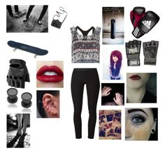"""""""Boxing Practice"""" by surebitch ❤ liked on Polyvore featuring Helmut Lang, Calvin Klein Underwear, Glamorous, adidas, Everlast and Madewell"""