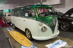 Amazing pretty much sums up this 23-window 1963 VW Kombi Deluxe --- Besides the factory Safari split-screen, custom two-tone paint and Porsche Fuchs wheels, the bus had been worked in the engine room, with CB Perfomance heads and twin 40mm Webers feeding its 1776cc flat-four
