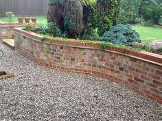 recycled brick retaining wall - Google Search