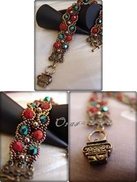 Hoplessly Romantic bracelet  is very easy to make with firepolished beads, pearls and seed beads