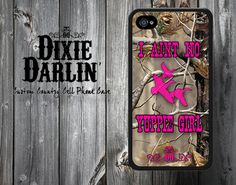"""Hot Pink """"I Aint No Yuppie Girl"""" Camo Country Chic Cell Phone Case - iPhone 4/4S/5/5S/5C and Samsung Galaxy S3/S4 (CP0701)"""