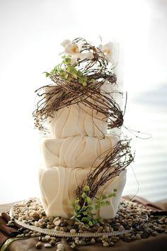 wedding cake -rustic wedding cake for a barn wedding Wedding Cake Rustic, Fall Wedding Cakes, Rustic Cake, Wedding Ideas, Autumn Wedding, Woodland Wedding, Wedding Decor, Wedding Inspiration, Gorgeous Cakes