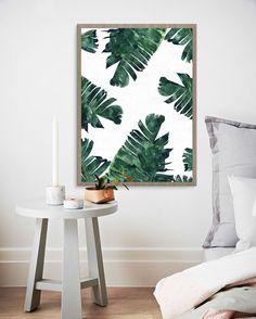 #fashion 'Banana Leaf Watercolor' Art & Canvas Print @mondemosaic #mondemosaic #buyart #decor #tropical