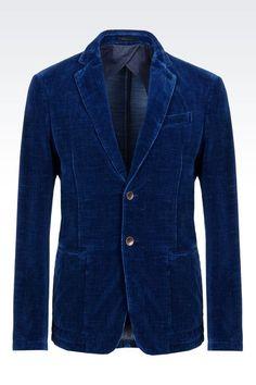 Armani Collezioni Men Two Button Jacket - SLIM FIT VELVET JACKET Armani Collezioni Official Online Store