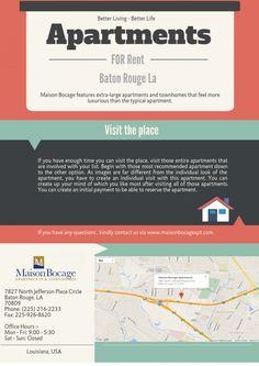 Best Apartments for Rent in Baton Rouge LA #ApartmentBatonRougeLA #ApartmentRentalsBatonRougeLA #MaisonBocageApartments #Louisiana #BatonRouge #Apartments