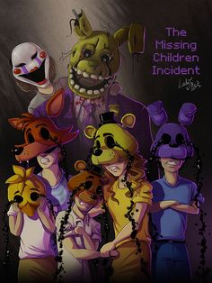 FNAF - the missing children incident cover by LadyFiszi