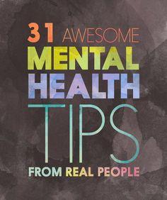 31 Consejos de Salud Mental importante que usted debe experimentar ahora