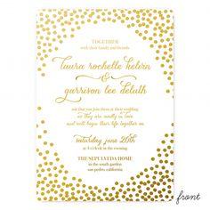 Invitation - Smitten on Paper - Confetti Foil Duplex Wedding Invitation
