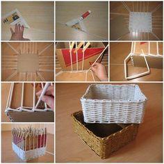 DIY Woven Paper Storage Box
