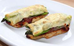 Zöld spárgás-sonkás csirkemell recept