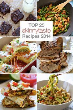 Top 25 Most Popular Skinnytaste Recipes 2014 with BLACK BEAN BROWNIES!!!!