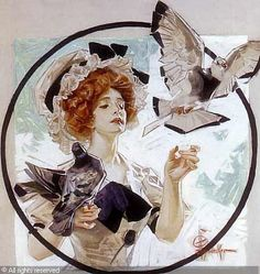 LEYENDECKER Joseph Christian,A woman with doves,Butterfield & Butterfield,San Francisco