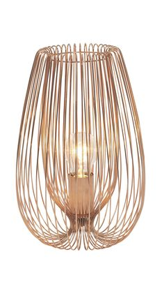 Jonas Copper Wire Table Lamp   Departments   DIY at B&Q