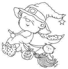 Cutest digital stamp ever! This is going on someone's Halloween card! (MIJN STEMPELS, TEMPLATES: okt stempels 50/50