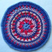 Crochet Mandala Wheel made by Vanessa, Isle of Wight, UK for yarndale.co.uk