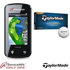 Sonocaddie V500 and TaylorMade TOUR XP Bundle with V500 Touch Screen Golf GPS & 1 Dozen TaylorMade Tour XP Golf Balls