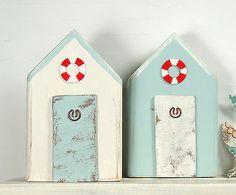 Beach Huts Pair Reclaimed wood Beach Decor - shabby chic Driftwood Key in Other Home Decor | eBay