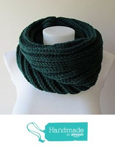 Hand Knitted Cowl in Dark Green - Chunky Knit Cowl - Neckwarmer - Wool Blend - Made to Order from NaryaBoutique https://www.amazon.com/dp/B01LIICZ9G/ref=hnd_sw_r_pi_dp_gwvaybJRNRHZR #handmadeatamazon