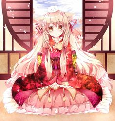 Tags: Anime, Pink Ribbon, Orange Eyes, Nanase Nao